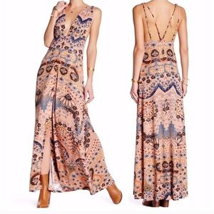 Free People 'Other Days' Rose Taupe Maxi Dress